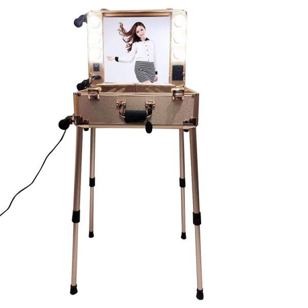 Мобильная студия визажиста розовое золото LC 003 - изображение 1