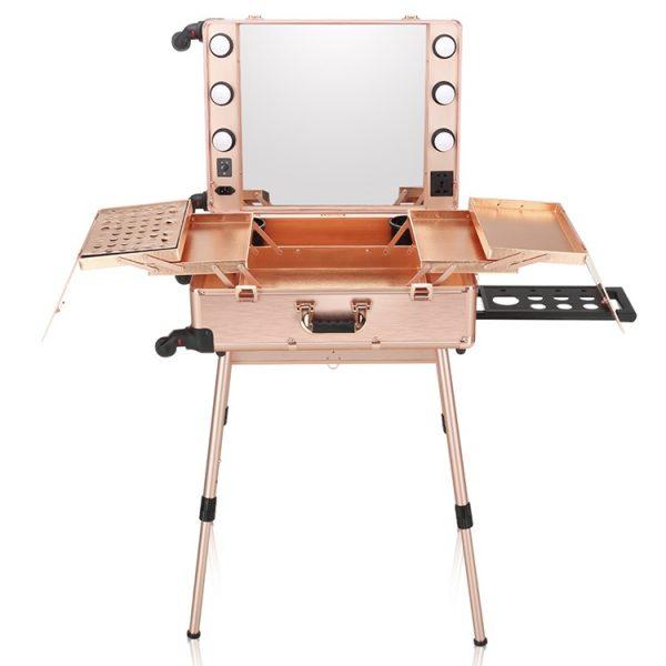 Мобильная студия визажиста розовое золото LC 004 - изображение 1
