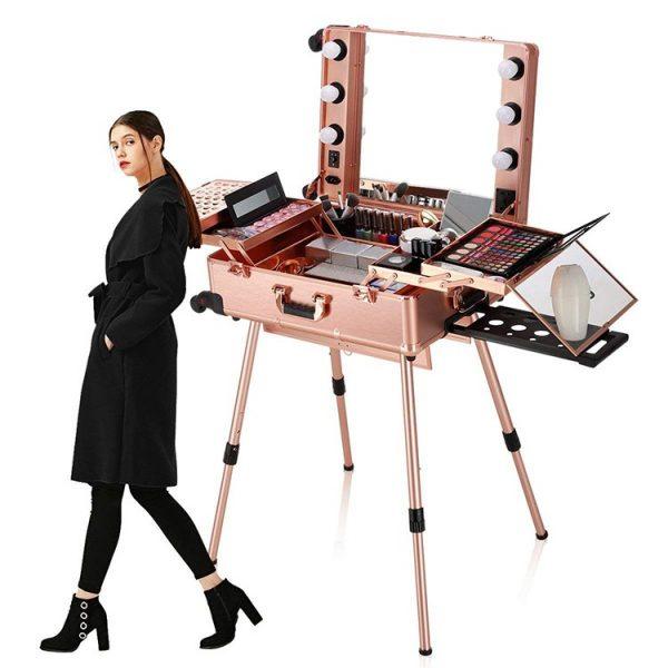 Мобильная студия визажиста розовое золото LC 004 - изображение 8