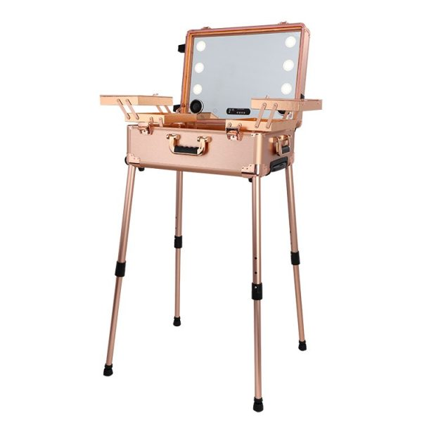 Мобильная студия визажиста розовое золото Premium LC011 - изображение 1