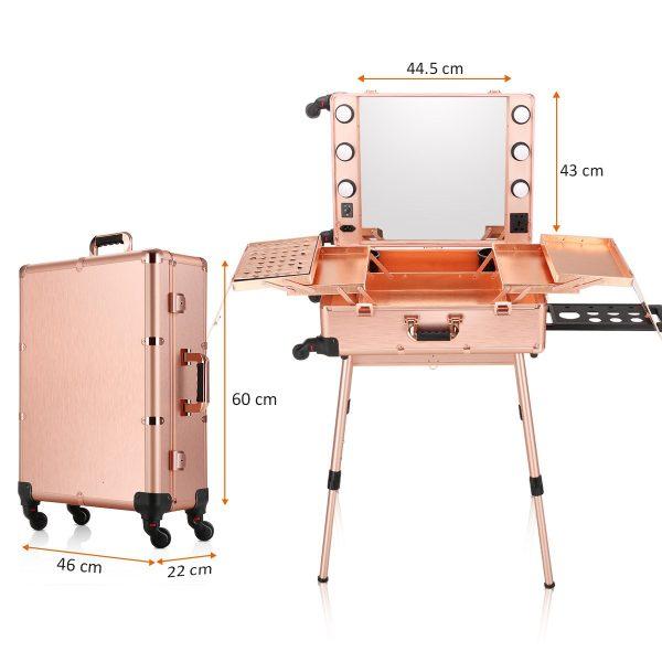 Мобильная студия визажиста розовое золото LC 004 - изображение 9