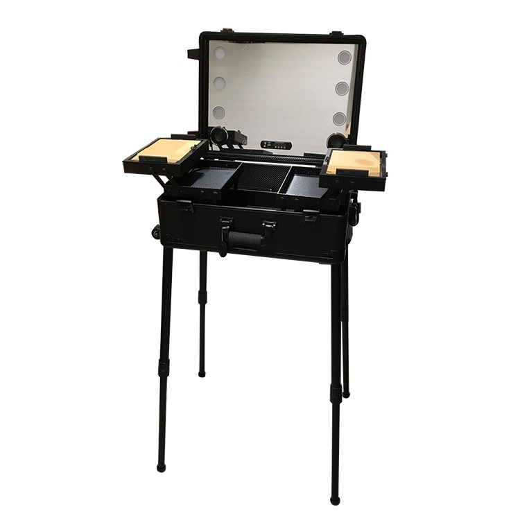 Мобильная студия визажиста чёрная Premium LC011 - изображение