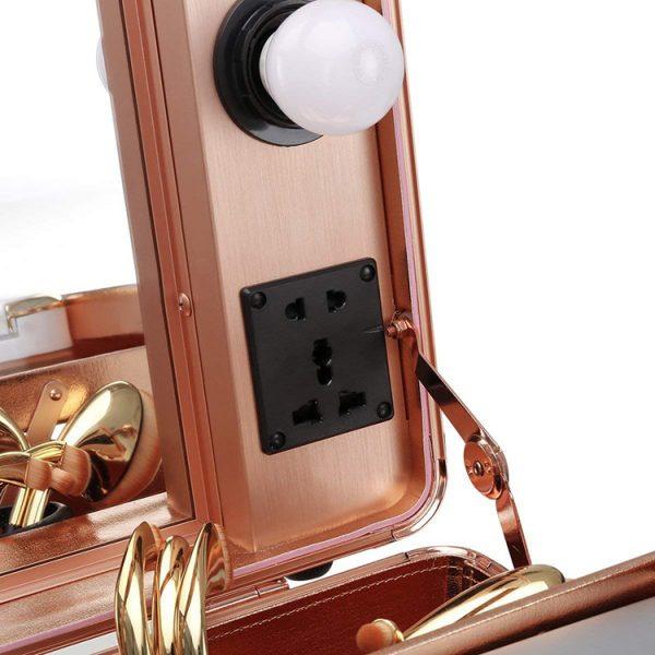 Мобильная студия визажиста розовое золото LC 004 - изображение 4