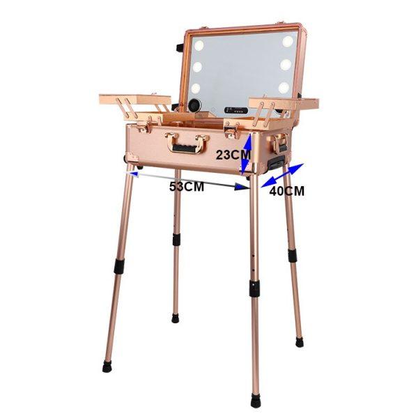 Мобильная студия визажиста розовое золото Premium LC011 - изображение 4
