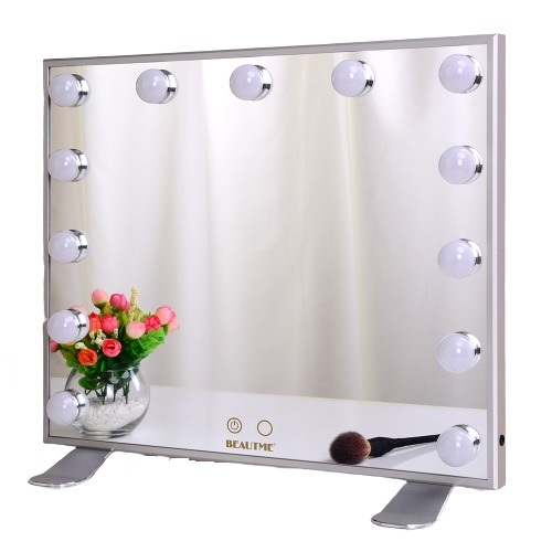 Зеркало гримерное L613 (белое) - изображение