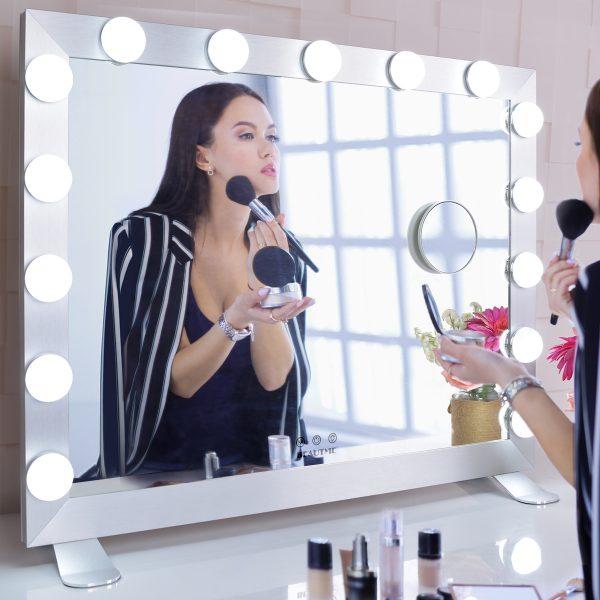 Зеркало гримерное  L611 (белое) - изображение 6