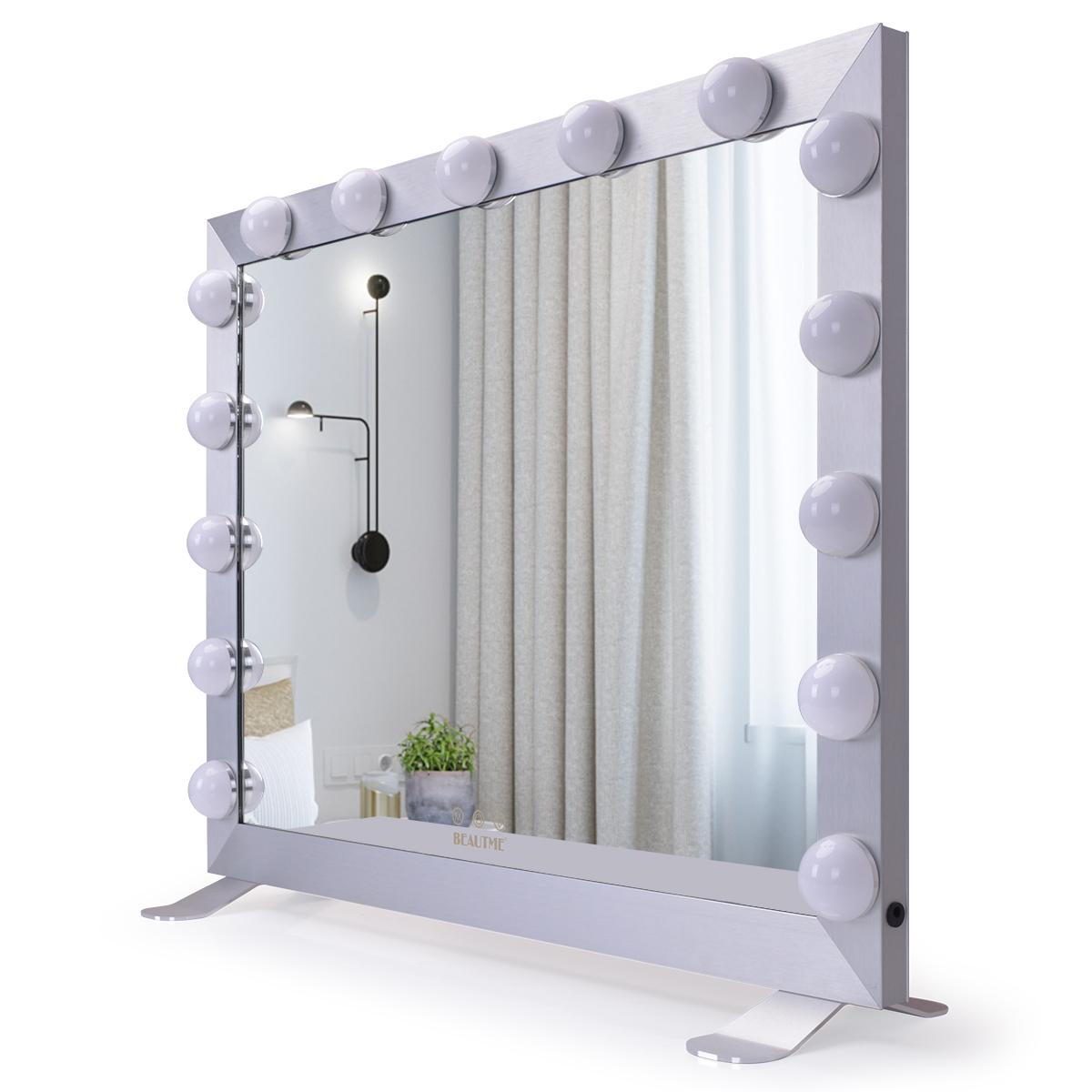Зеркало гримерное  L611 (белое) - изображение