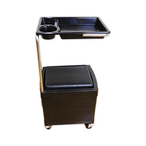 Тумба-тележка парикмахерская OKIRO X 04 (черная) - изображение 3