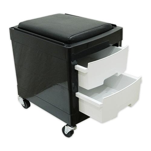 Тумба-тележка парикмахерская OKIRO X 04 (белая) - изображение 4