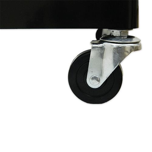 Тумба-тележка парикмахерская OKIRO X 04 (черная) - изображение 4