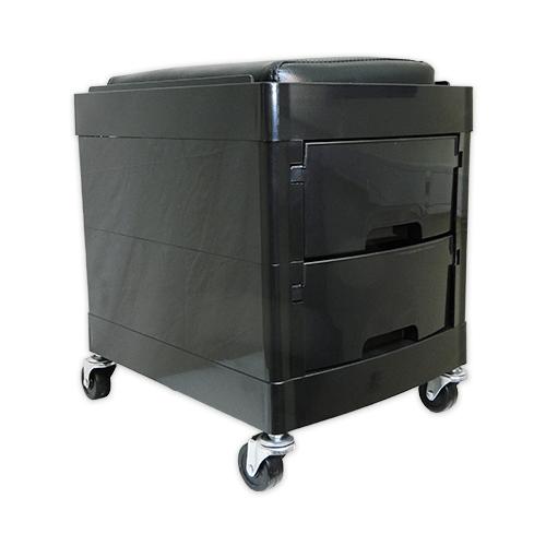 Тумба-тележка парикмахерская OKIRO X 04 (черная) - изображение 5