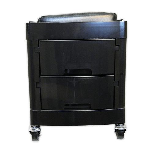 Тумба-тележка парикмахерская OKIRO X 04 (черная) - изображение 6