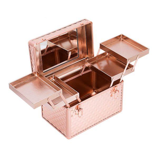 Бьюти кейс для косметики OKIRO KС178L золотой бриллиант - изображение 5