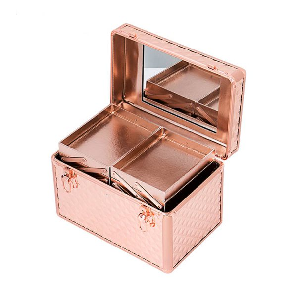 Бьюти кейс для косметики OKIRO KС178L золотой бриллиант - изображение 2