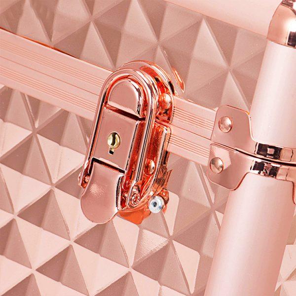 Бьюти кейс для косметики OKIRO KС178L золотой бриллиант - изображение 4