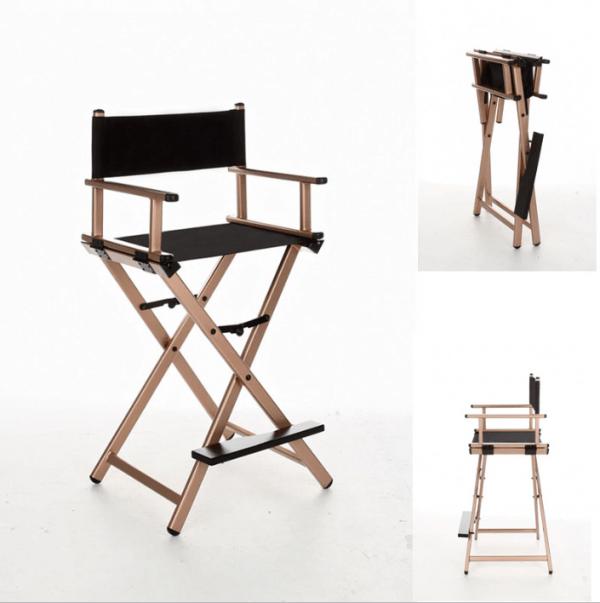 Разборный стул визажиста из алюминия (золотой) - изображение 4