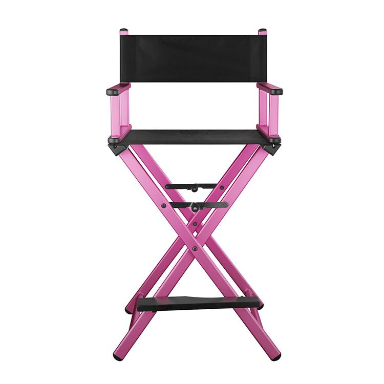 Разборный стул визажиста из алюминия (розовый) - изображение