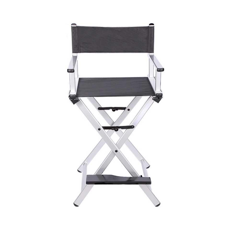 Разборный стул визажиста из алюминия (серебристый) - изображение