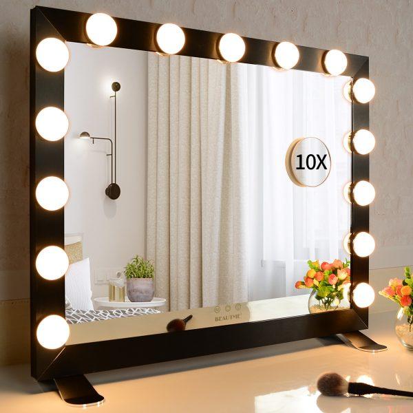 Зеркало гримерное  L611 (черное) - изображение 2