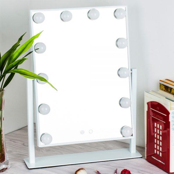 Зеркало гримерное настольное 503B (белое) - изображение 2