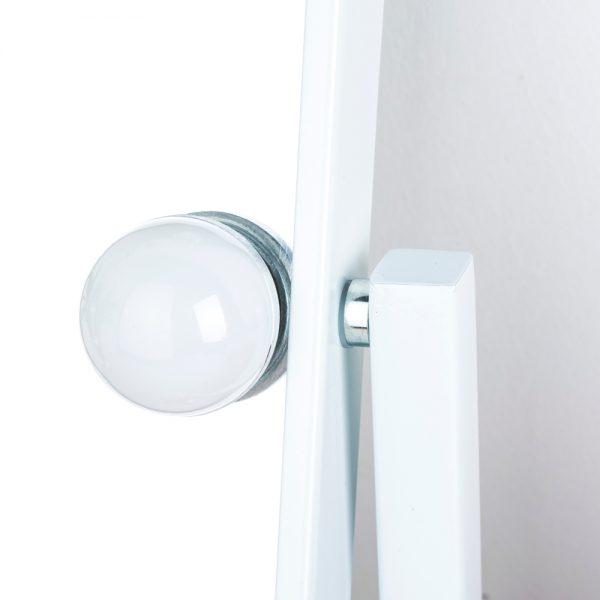 Зеркало гримерное настольное 503B (белое) - изображение 7