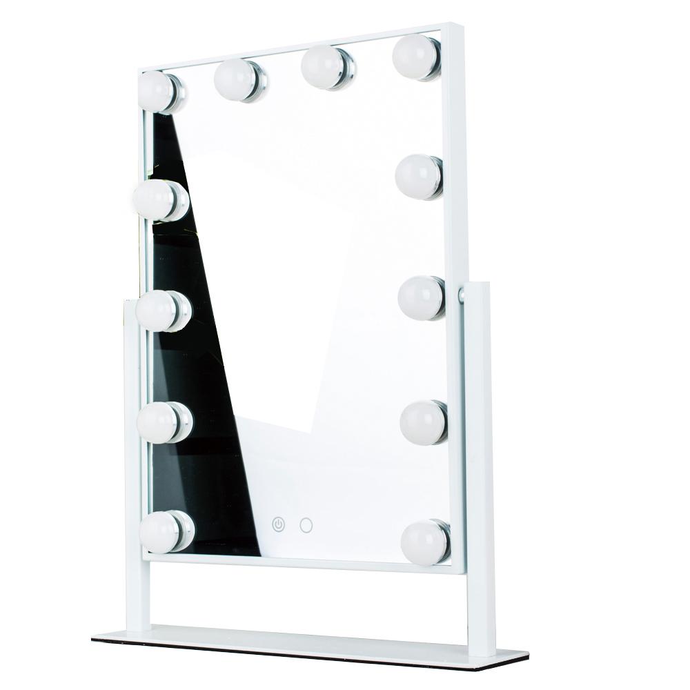 Зеркало гримерное настольное 503B (белое) - изображение
