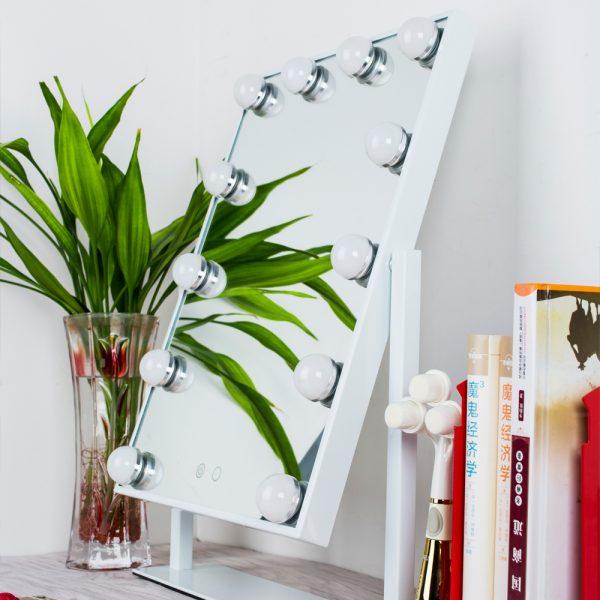 Зеркало гримерное настольное 503B (белое) - изображение 4