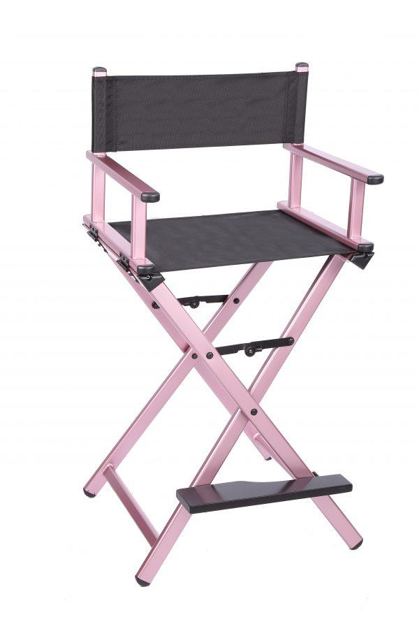 Разборный стул визажиста из алюминия (розовый) - изображение 4