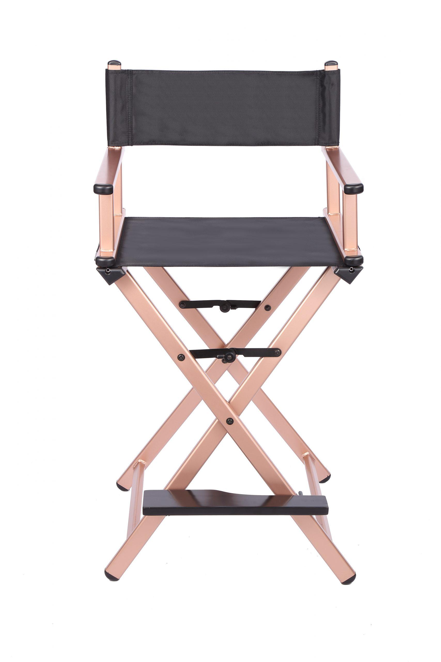 Разборный стул визажиста из алюминия (золотой) - изображение