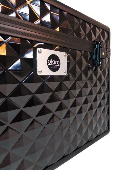 Бьюти кейс для косметики OKIRO KС178L черный бриллиант - изображение 5
