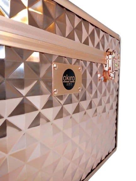 Бьюти кейс для косметики OKIRO KС178L золотой бриллиант - изображение 6