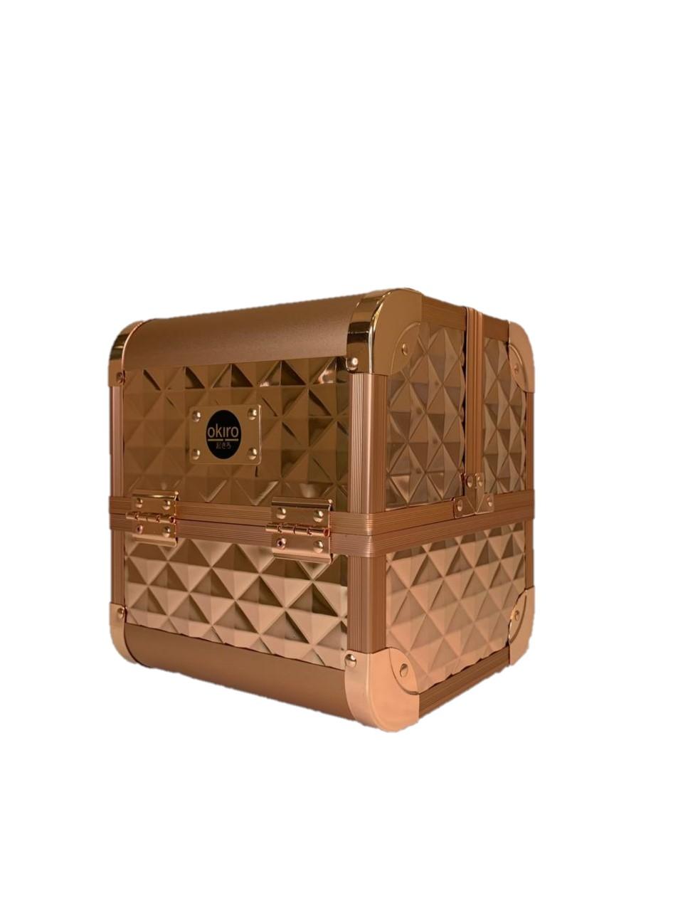 Бьюти кейс для косметики OKIRO MUC 064 (золотой бриллиант) - изображение