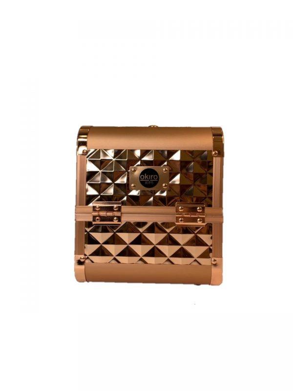 Бьюти кейс для косметики OKIRO MUC 064 (золотой бриллиант) - изображение 5