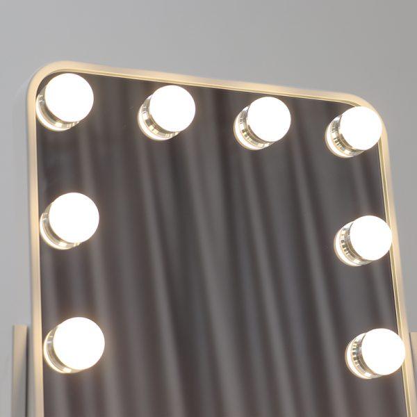 Зеркало гримерное настольное DP330 А (белое) - изображение 5