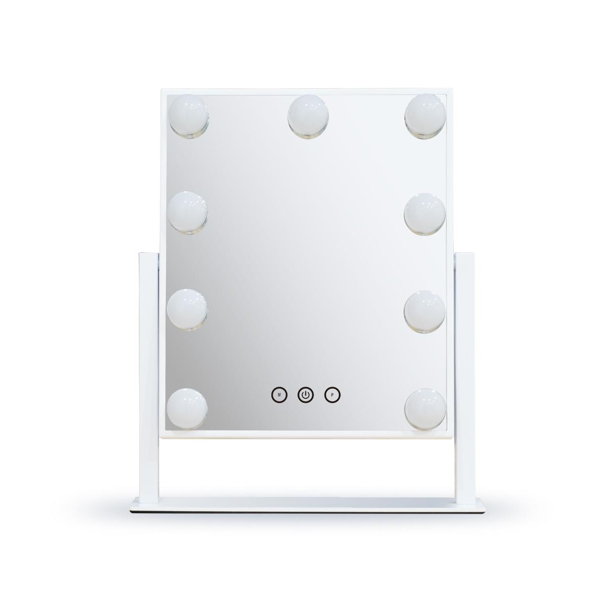 Зеркало гримерное настольное DP331 (белое) - изображение