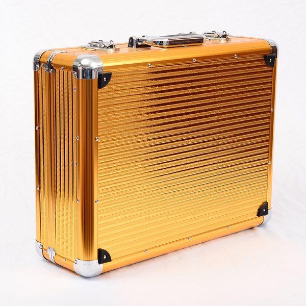 Кейс чемодан для барбера (парикмахера) OKIRO BC 001 (золотой) - изображение 2