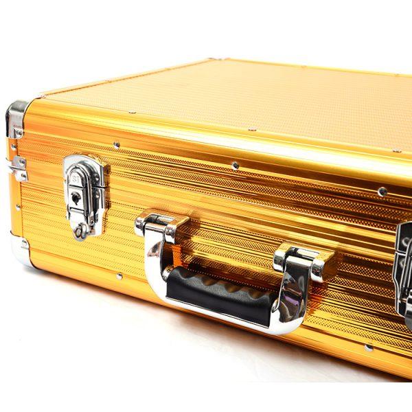 Кейс чемодан для барбера (парикмахера) OKIRO BC 001 (золотой) - изображение 3