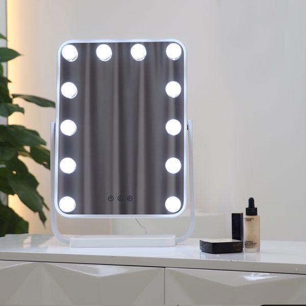 Зеркало гримерное настольное DP330 А (белое) - изображение 6