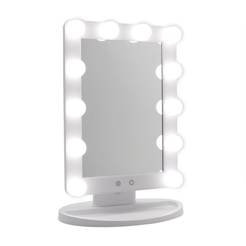 Зеркало гримерное настольное SM279E (белое) - изображение