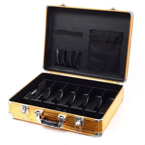 Кейс чемодан для барбера (парикмахера) OKIRO BC 001 (золотой) - изображение 5