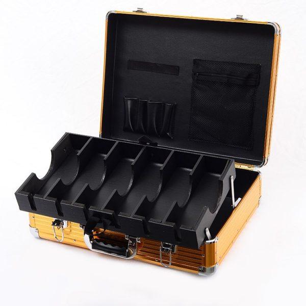 Кейс чемодан для барбера (парикмахера) OKIRO BC 001 (золотой) - изображение 1