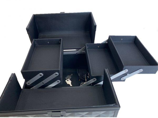 Бьюти кейс для визажиста OKIRO CWB 5350 черный бриллиант - изображение 3