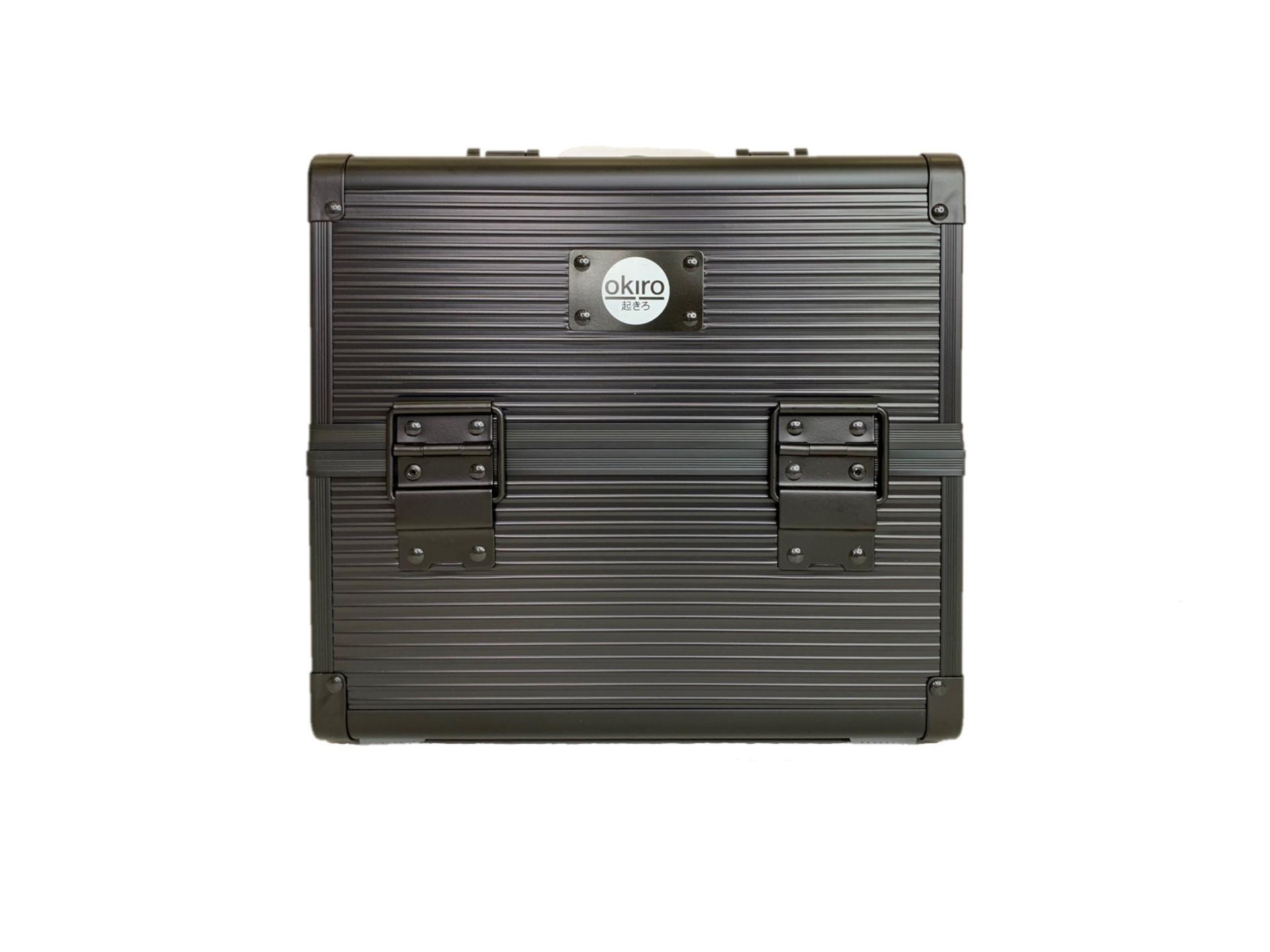 Бьюти кейс для визажиста OKIRO CWB 5350 черный в полоску - изображение