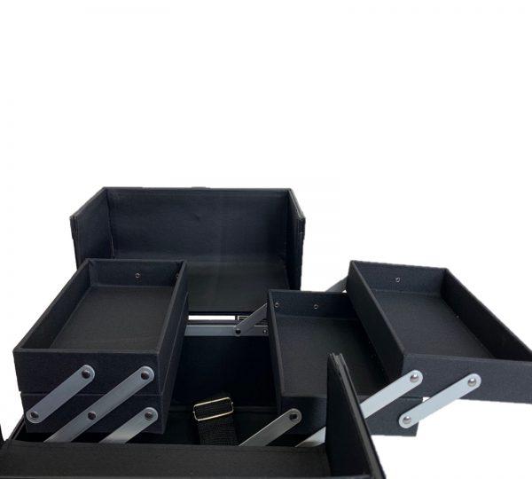 Бьюти кейс для визажиста OKIRO CWB 5350 черный в полоску - изображение 6