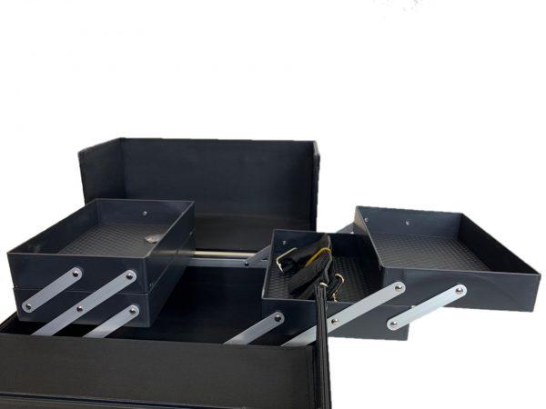 Бьюти кейс для визажиста OKIRO CWB 6350 черный бриллиант - изображение 3