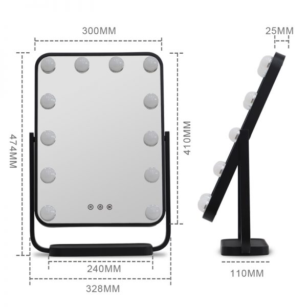 Зеркало гримерное настольное DP330 А (черное) - изображение 5
