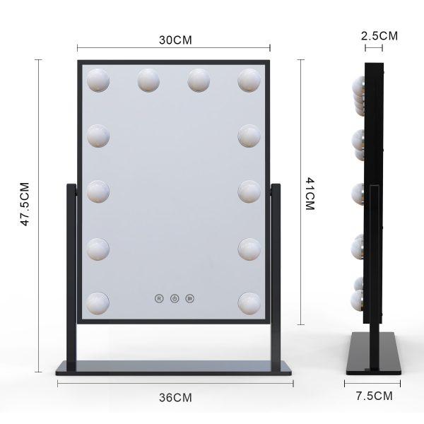 Зеркало гримерное настольное DP330 (черный) - изображение 2